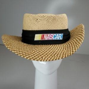 NASCAR RACING WOVEN GRIP FIT logo tan SUN HAT